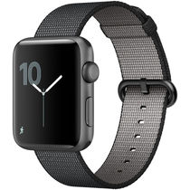 苹果 Watch Sport Series 2智能手表(42毫米深空灰色铝金属表壳搭配黑色精织尼龙表带 MP072CH/A)产品图片主图