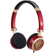 漫步者 H691 钢铁侠定制款音乐耳机 红金色