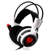 硕美科 G941N 升级版 头戴式电脑耳机 振动游戏耳机 电竞耳麦 带线控 白色