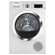 博世  WTWH75600W 9公斤 智能干衣机 原装进口 静音除菌 热泵干衣 免熨烫 快烘40分钟 带挂架 家居互联(白色)