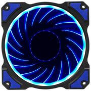 乔思伯 FR-101炫光蓝 12CM机箱风扇(引擎涡轮扇叶/蓝色LED/主板3PIN接口+电源D型口接口)