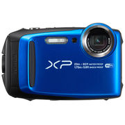 富士 XP120 运动相机 蓝色 四防卡片机 防水防尘防震防冻 5倍光学变焦 WIFI分享 光学防抖