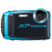 富士 XP120 运动相机 天空蓝 四防卡片机 防水防尘防震防冻 5倍光学变焦 WIFI分享 光学防抖