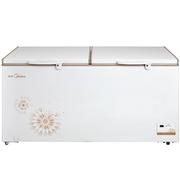 美的  BD/BC-568DKEM 568升 电脑控温 商用冰柜 卧式大冷冻柜 冷冻冷藏转换冷柜 单温冰箱(时尚金)
