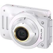 卡西欧 EX-FR100L 数码相机(3.0英寸 1020万像素 F2.8光圈)美颜自拍相机 白色