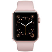 苹果 Watch Series 2 智能手表(42mm 玫瑰金色铝金属表壳搭配粉砂色运动型表带 MQ142CH/A)