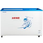 美菱 SCD-280GZ 280升双温双箱展示柜  商用卧式冷柜 节能静音(白)