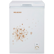 美菱 BC/BD-103DT 103升单温柜 冷藏冷冻转换柜 家用商用一机四用  卧式冰箱(白)