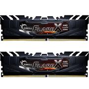 芝奇  Flare X系列 烈焰枪 DDR4 3200频率 16G (8G x 2)套装 台式机内存(铁骑黑)