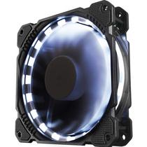 乔思伯 FR-401炫光白 12CM机箱风扇 (LED发光风扇/主板3PIN接口+电源D型口接口)产品图片主图