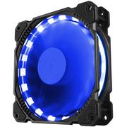 乔思伯 FR-401炫光蓝 12CM机箱风扇 (LED发光风扇/主板3PIN接口+电源D型口接口)