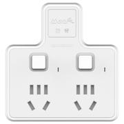 玛雅 一转二商旅/家用便携式插座转换器/转换头 独立开关无线防雷防涌电插板排插 SY1-2N