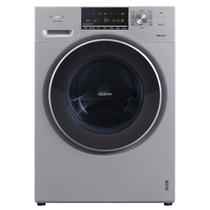 松下 XQG90-E59L2H 9公斤大容量变频滚筒洗衣机 三维立体洗泡沫净银色产品图片主图