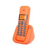 摩托罗拉 T301C数字无绳单机中文按键屏幕橙色背光办公家用无线低辐射固定座机(橙色)
