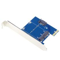 IT-CEO PCI-E转MSATA扩展卡转接卡 蓝色(支持PCI-E X1槽/SSD固态硬盘/IT-201)产品图片主图