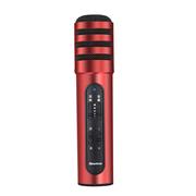纽曼   MC01 手机麦克风 全民K歌 唱吧 YY 主播K歌直播电容麦克风专用话筒 苹果 安卓通用 红色
