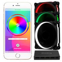 鑫谷 Moparty蓝牙RGB风扇套件(带3把RGB风扇及蓝牙控制器/多模式亮度调整/支持8风扇及2灯条)产品图片主图
