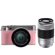 富士 X-A10 (XC16-50II/XC50-230II) 花漾粉 微单电双镜头套机 小巧轻便 微距拍摄 180度翻折屏