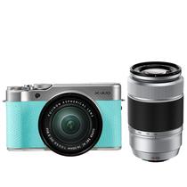 富士 X-A10 (XC16-50II/XC50-230II) 薄荷绿 微单电双镜头套机 小巧轻便 微距拍摄 180度翻折屏产品图片主图
