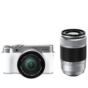 富士 X-A10 (XC16-50II/XC50-230II) 皓雪白 微单电双镜头套机 小巧轻便 微距拍摄 180度翻折屏