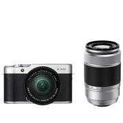 富士 X-A10 (XC16-50II/XC50-230II) 银黑色 微单电双镜头套机 小巧轻便 微距拍摄 180度翻折屏