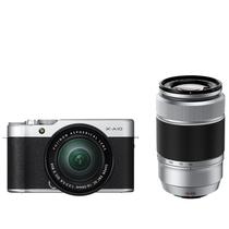 富士 X-A10 (XC16-50II/XC50-230II) 银黑色 微单电双镜头套机 小巧轻便 微距拍摄 180度翻折屏产品图片主图