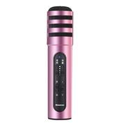 纽曼   MC01 手机麦克风 全民K歌 唱吧 YY 主播K歌直播电容麦克风专用话筒 苹果 安卓通用 玫瑰金