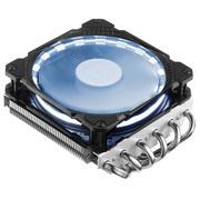 乔思伯 HP625日食白 CPU散热器 (多平台/6热管/下吹CPU散热器/PWM/12CM日食光效风扇/附带硅脂)