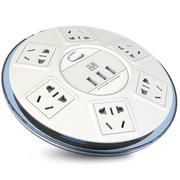 突破 清月SR21S USB智能插座3USB接口+6位新国标保护门插孔全长1.8米插线板插座
