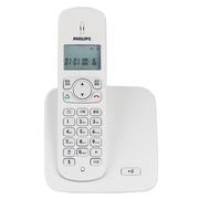 飞利浦 DCTG186 数字无绳电话单机 免提对讲 屏幕背光 家用办公座机子母机(白色)