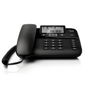德国金阶 DA260 电话机座机黑名单功能/来电显示/双接口/办公家用有绳电话免电池(黑)