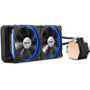 鑫谷 冰凌霜240一体式水冷CPU散热器(12CM发光风扇/LED炫光冷头/多平台AM4通用/冷排机箱专用)