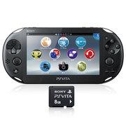 索尼 PlayStation Vita 黑色掌机 新型号(附赠8G记忆卡)