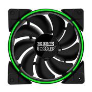 超频三 皓月 12CM绿光 机箱风扇 (水冷排散热/电脑电源风扇/CPU风扇/减震静音)