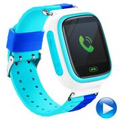 智力快车 Z5 电话手表 儿童定位手表 智能儿童电话手表智能穿戴 儿童智能手表电话 蓝色