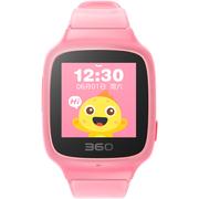 360 儿童手表 彩色触屏版 防丢防水GPS定位  SE 2 Plus W605 智能问答手表 珊瑚粉