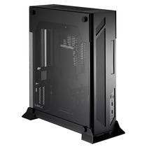 联力 黑色 Mini-ITX壁挂式机箱(5mm强化玻璃/全铝外壳/顶部过滤网/双USB 3.0接口/310mm显卡) PC-O5S产品图片主图