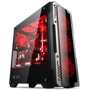 金河田 峥嵘Z2战士 银黑 中塔式电脑机箱 (宽体ATX/三面钢化玻璃/长显卡/U3/SSD/全侧透钢化玻璃版)