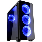 先马 黑影3 电脑游戏机箱 (双面钢化玻璃/大侧透/对流式散热/支持ATX主板 长显卡 水冷)