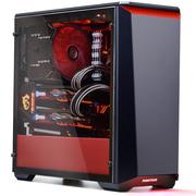 追风者 416钢化玻璃版 黑红 中塔式游戏水冷主机箱(RGB灯控/支持ATX主板/280水冷背线/双U3/独立电源仓)
