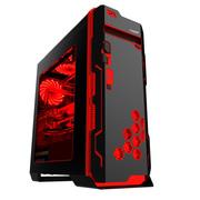游戏悍将 超级刀锋VP黑装 中塔式机箱 (支持ATX主板/U3/模块化硬盘位/39CM长显卡/大侧透)