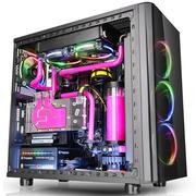 Thermaltake View 31 TG RGB 中塔机箱(3个RGB14cm风扇/240mm宽机架/4mm侧透钢化玻璃*2)
