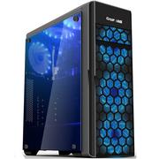 长城 魅影M-80电竞游戏机箱黑色(水冷/全侧透/USB3.0/独立电源仓/磁吸防尘)