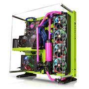 Thermaltake Core P5 绿色 开放式机箱 (为DIY水冷设计/支持长显卡/可壁挂/双U3/游戏水冷机箱)
