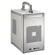 联力 银色Mini-ITX机箱(手提式设计/全铝外壳/SFX电源/双USB 3.0接口) PC-TU100A