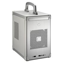 联力 银色Mini-ITX机箱(手提式设计/全铝外壳/SFX电源/双USB 3.0接口) PC-TU100A产品图片主图