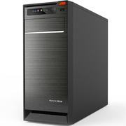 长城 商睿R-08黑色 简约办公机箱 家庭电脑机箱 上置电源(USB3.0/支持SSD/防尘网)