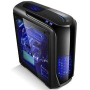 金河田 游戏联盟 超越 太空灰 (U3/SSD/风扇控制/水冷/读卡器/侧透/标配2个LED风扇)