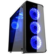 先马 守望者 电脑机箱三面钢化玻璃 配3把RGB风扇/支持ATX主板 水冷 背线 长显卡/台式游戏主机箱