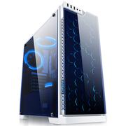 爱国者 炫影豪华版 白色 中塔式玻璃机箱 (支持ATX主板/2面钢化玻璃/配3只白光风扇/蜂窝玻璃面板)